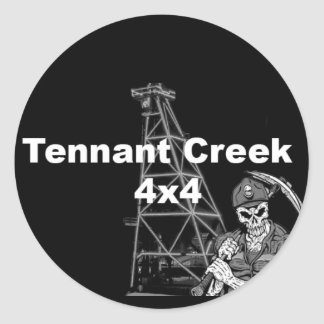 Tennant Creek 4x4 Round Sticker