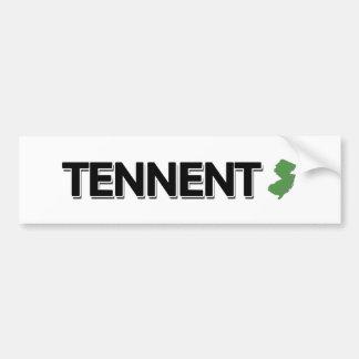Tennent New Jersey Bumper Stickers