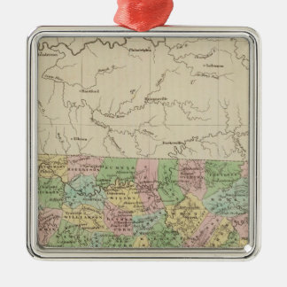 Tennessee 4 christmas ornament