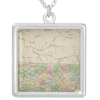 Tennessee 4 silver plated necklace