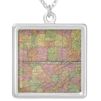 Tennessee 5 silver plated necklace