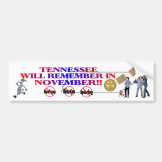 Tennessee - Anti ObamaCare, New Taxes & Spending Bumper Sticker