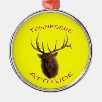 Tennessee Attitude Silver-Colored Round Decoration