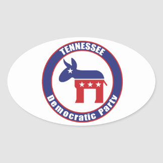 Tennessee Democratic Party Oval Stickers