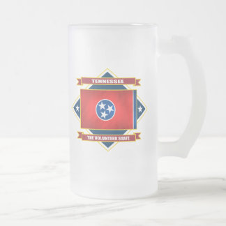 Tennessee Diamond Frosted Glass Mug