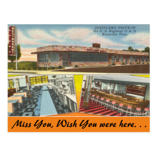 Tennessee, Dixieland Drive-In, Knoxville Postcard
