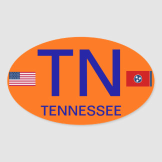 Tennessee* European-Style Bumper Sticker