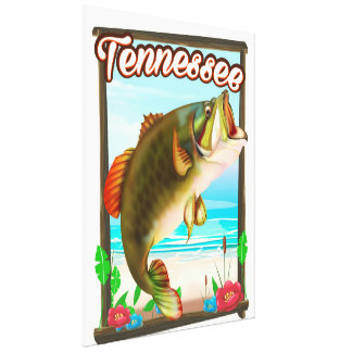 Tennessee Fishing poster. Canvas Print