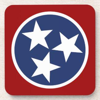 Tennessee Flag Emblem Beverage Coasters