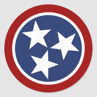 Tennessee Flag Emblem Round Sticker
