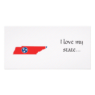 Tennessee Flag Map Customised Photo Card