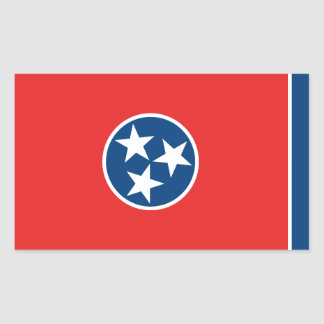 Tennessee Flag Rectangular Sticker