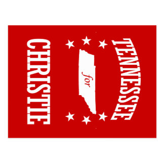 TENNESSEE FOR CHRISTIE POSTCARD
