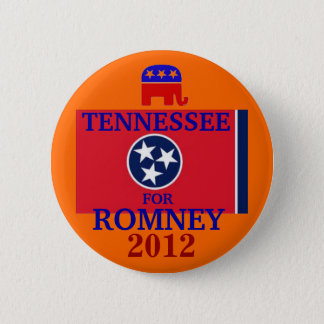 Tennessee  for Romney 2012 6 Cm Round Badge