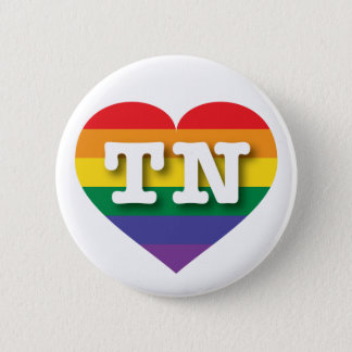 Tennessee Gay Pride Rainbow Heart - Big Love 6 Cm Round Badge