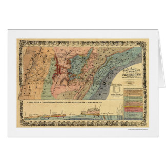 Tennessee Geological Map 1866 Card