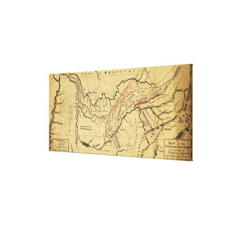 Tennessee GovernmentPanoramic MapTennessee Canvas Print