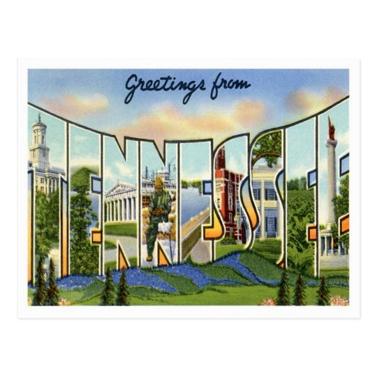 Tennessee Greetings From US States Postcard