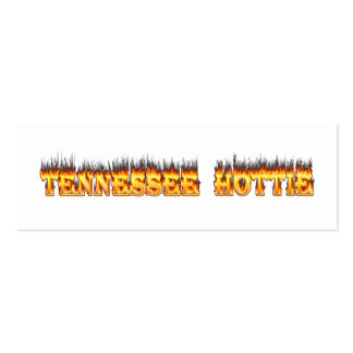 Tennessee hottie fire and flames pack of skinny business cards