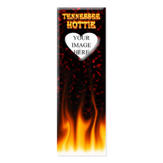 Tennessee Hottie fire and red marble heart. Pack Of Skinny Business Cards