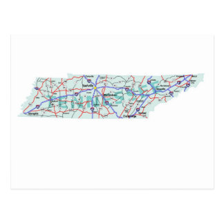 Tennessee Interstate Map Postcard