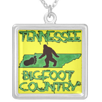 Tennessee Is Bigfoot Country Silver Plated Necklace