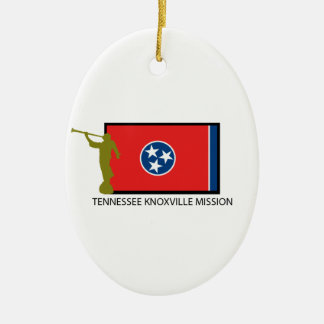 TENNESSEE KNOXVILLE MISSION LDS CTR CERAMIC OVAL DECORATION