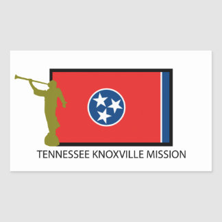 TENNESSEE KNOXVILLE MISSION LDS CTR RECTANGULAR STICKER