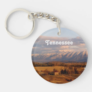 Tennessee Landscape Single-Sided Round Acrylic Key Ring