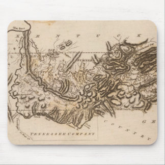 Tennessee Map by Arrowsmith Mouse Mat