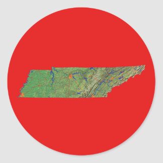 Tennessee Map Sticker