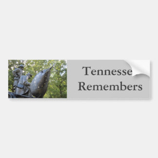 Tennessee Monument Shiloh National Military Park Bumper Sticker