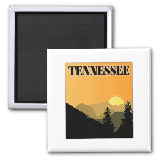 Tennessee Mountains Square Magnet