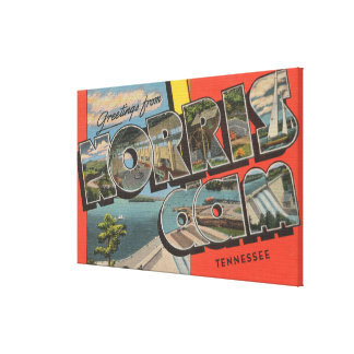 Tennessee - Norris Dam - Large Letter Scenes Canvas Print