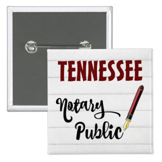 Tennessee Notary Public Ink Pen 15 Cm Square Badge