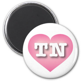 Tennessee Pink Fade Heart - Big Love 6 Cm Round Magnet