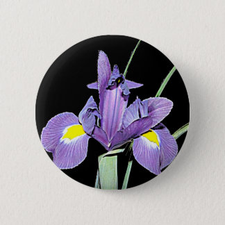Tennessee Purple Iris 6 Cm Round Badge