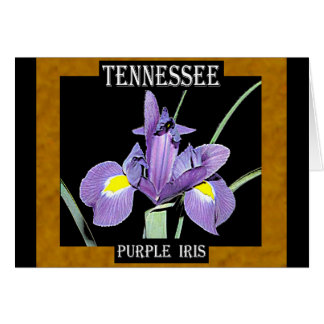 Tennessee Purple Iris Card