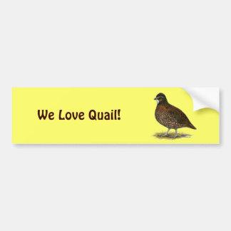 Tennessee Red Quail Bumper Sticker