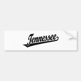 Tennessee script logo in black bumper sticker