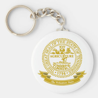 Tennessee Seal Basic Round Button Key Ring