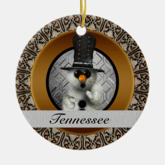 Tennessee Snowman Christmas Ornament