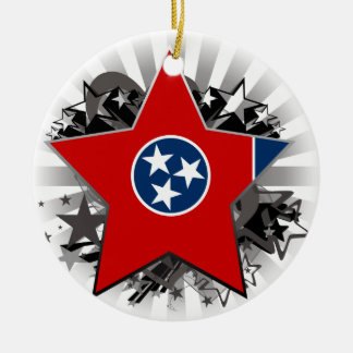 Tennessee Star Christmas Ornament