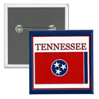Tennessee State Flag Design Button