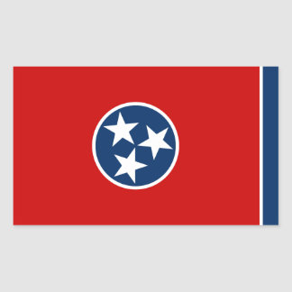 Tennessee State Flag Rectangular Sticker