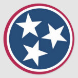 Tennessee State Flag Round Sticker