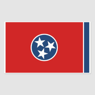 Tennessee State Flag Sticker - 4 per sheet