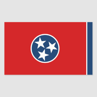 Tennessee State Flag, United States Rectangular Sticker