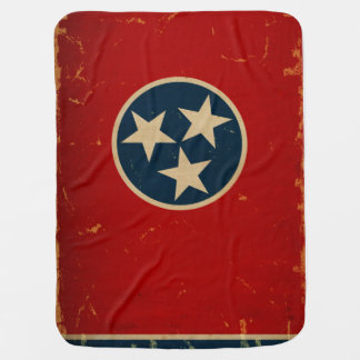 Tennessee State Flag VINTAGE Receiving Blankets