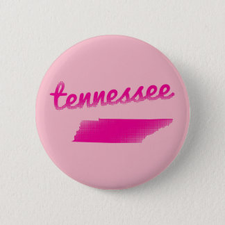 Tennessee state in pink 6 cm round badge